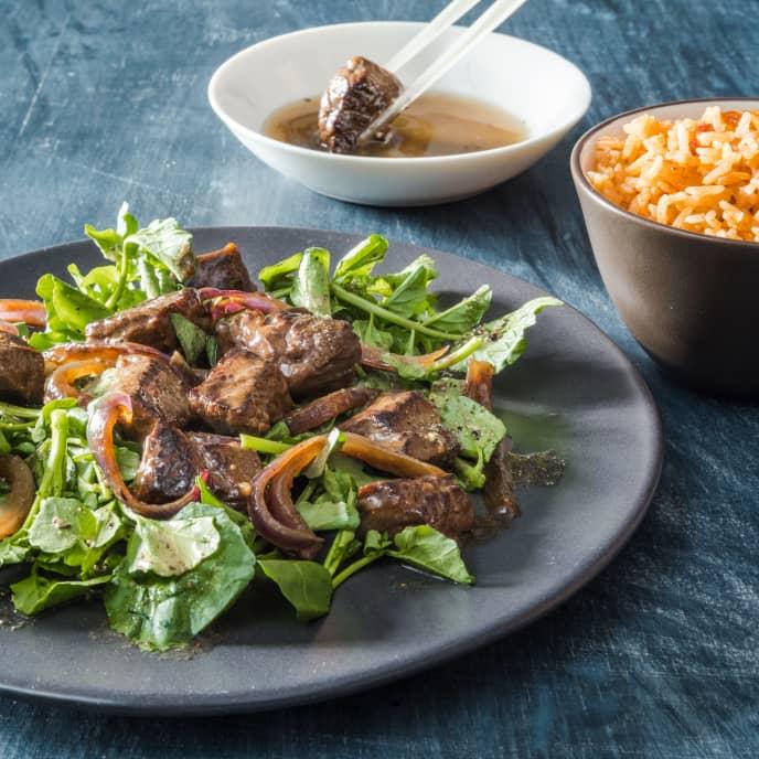 Bò Lúc Lắc (Shaking Beef) for Two