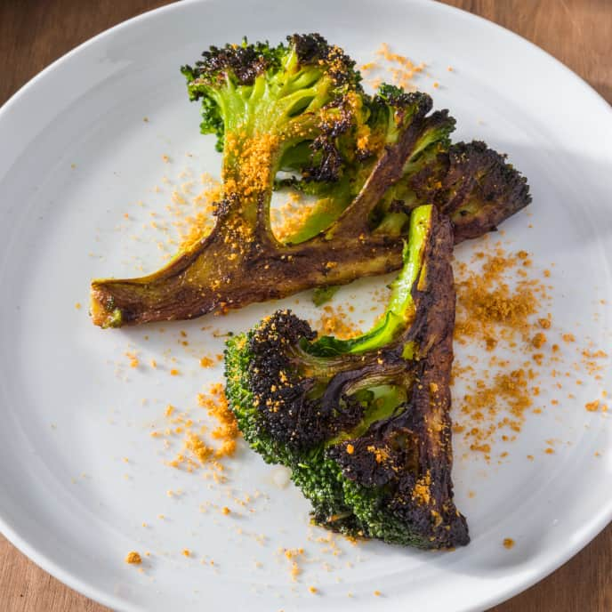 Skillet-Roasted Broccoli with Smoky Sunflower Seed Topping