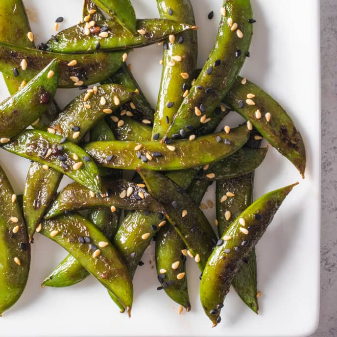 Skillet-Roasted Sugar Snap Peas