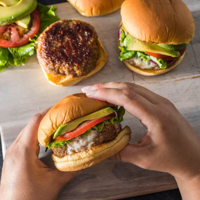 Skillet Turkey Burgers