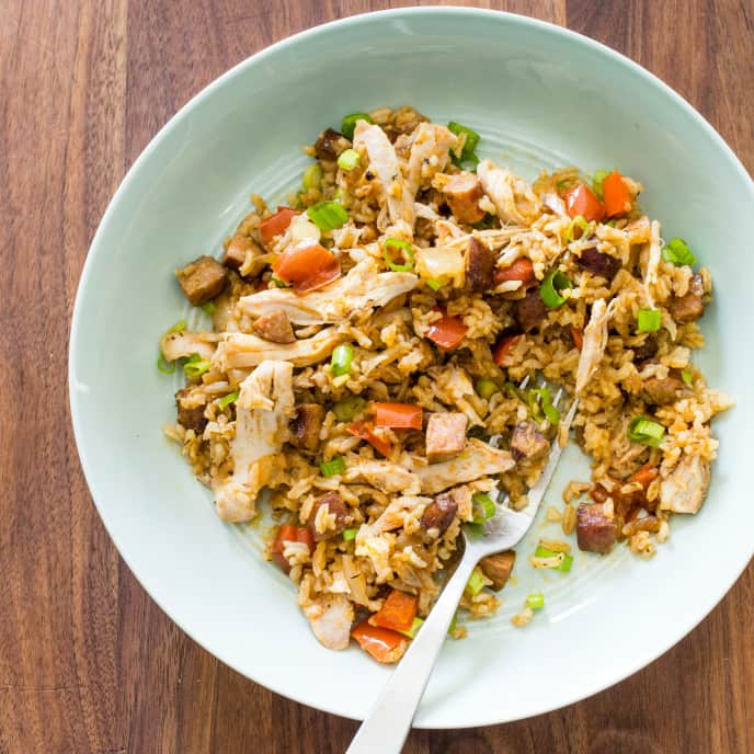 Slow-Cooker Southern Chicken and Dirty Rice for Two