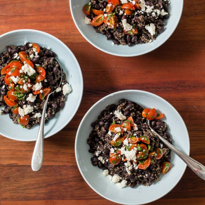 Slow-Cooker Southwestern Black Bean and Bulgur Bowls