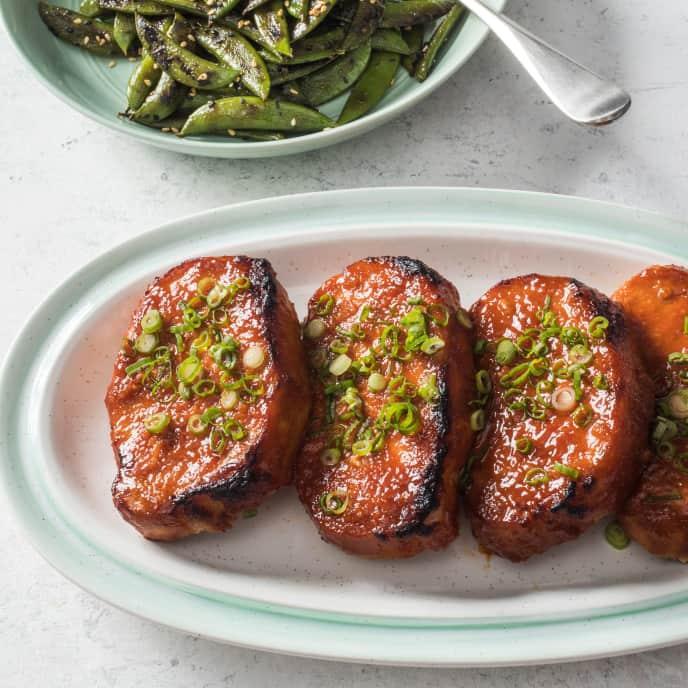 Spicy Gochujang-Glazed Pork Chops