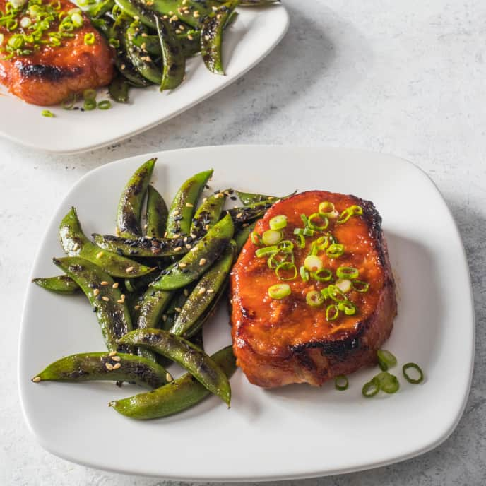 Spicy Gochujang-Glazed Pork Chops for Two