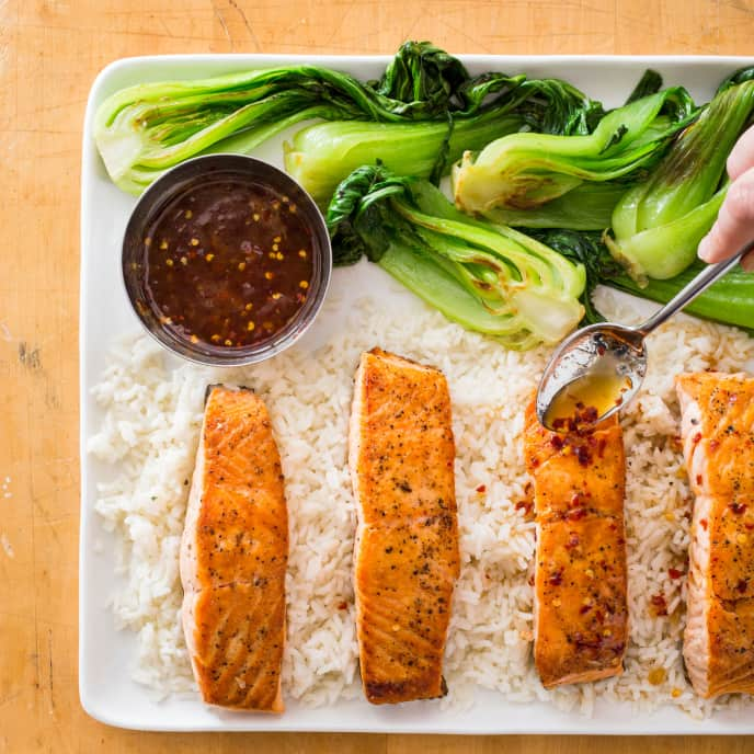 Sweet-and-Sour Salmon with Bok Choy