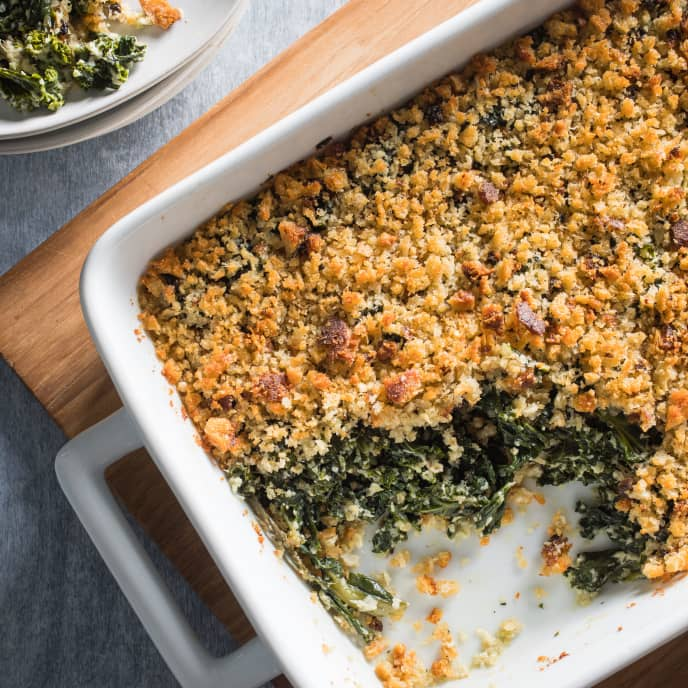 Swiss Chard and Kale Gratin