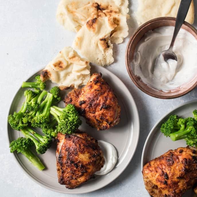 Air-Fryer Tandoori Chicken Thighs