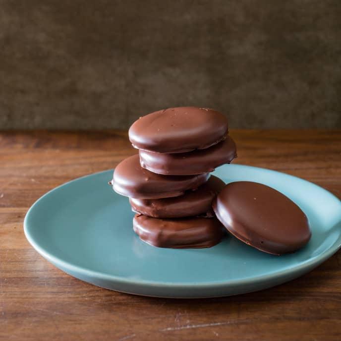 Thin Chocolate Mint Cookies