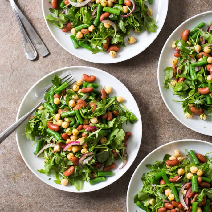 Three-Bean Salad with Arugula