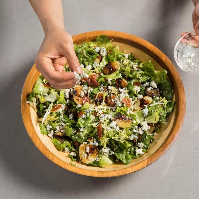 Roasted Cipollini and Escarole Salad