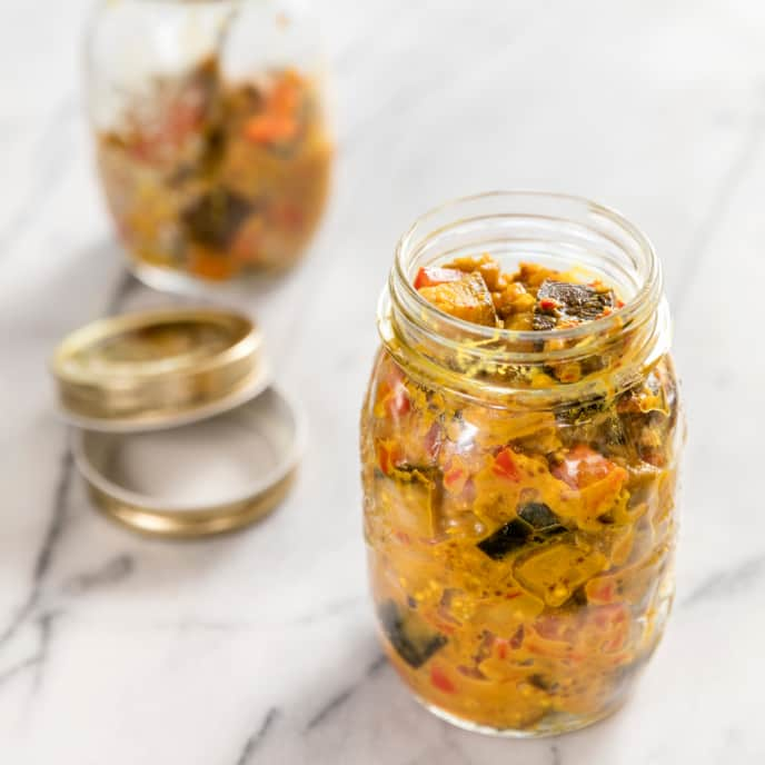 South Indian Pickled Eggplant