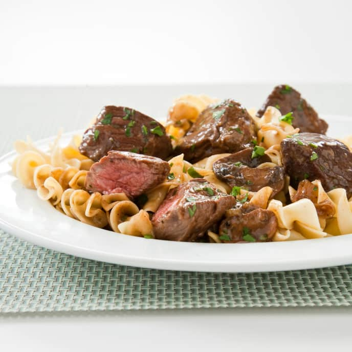 Steak Tips with Mushroom-Onion Gravy