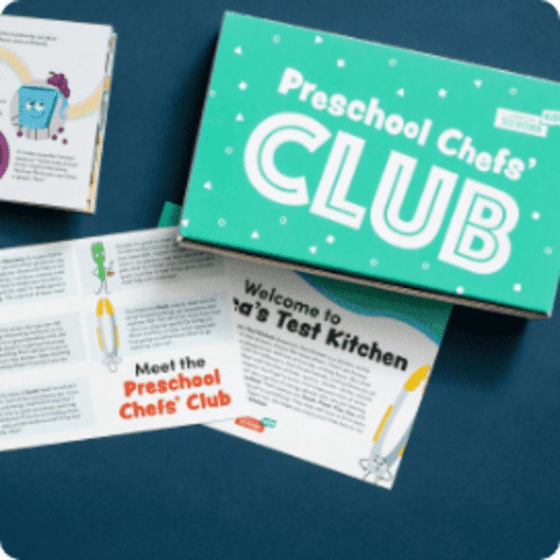 Preschool Chefs' Club box contents
