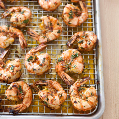 Garlicky Roasted Shrimp with Cumin, Ginger, and Sesame