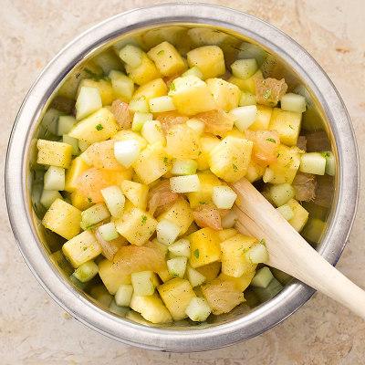 Pineapple, Grapefruit, and Cucumber Salad