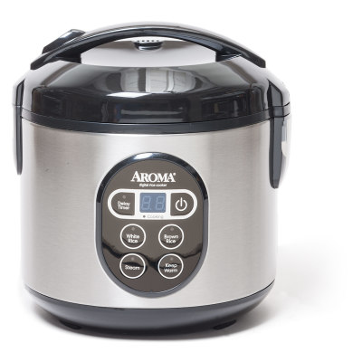 Aroma 8 Cup Digital Rice Cooker and Food Steamer