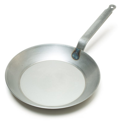 Matfer Bourgeat Black Steel Round Frying Pan, 11 7/8