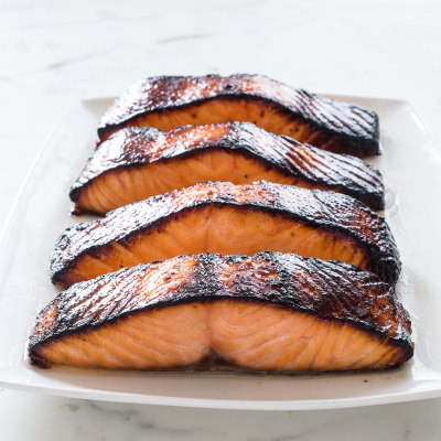 Miso-Marinated Salmon for Two