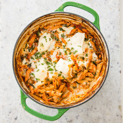 Baked Ziti with Sausage and Spinach