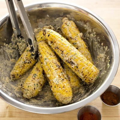 Mexican-Style Charcoal-Grilled Corn