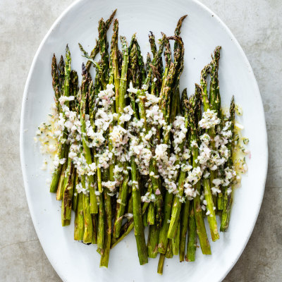 Asparagus with Lemon-Shallot Vinaigrette