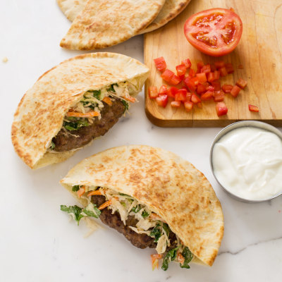Spiced Beef Pitas