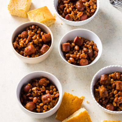 Slow-Cooker Barbecue Franks and Beans
