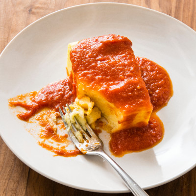 Fluffy Polenta with Red Sauce