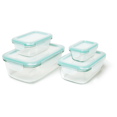 OXO Good Grips Smart Seal 8 Piece Rectangle Container Set