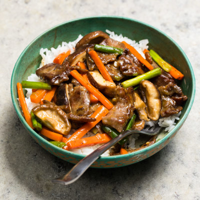 Beef, Shiitake, and Carrot Stir-Fry