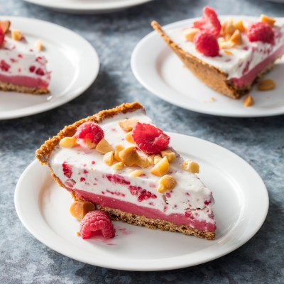 Coconut-Raspberry Gelato Pie