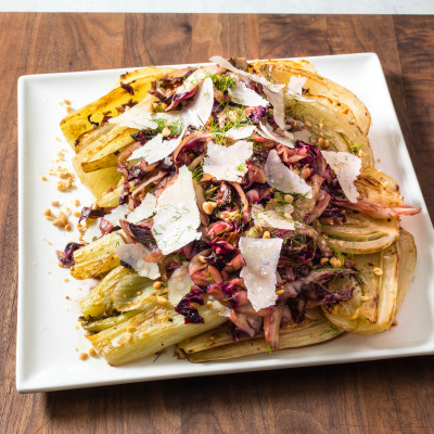 Braised Fennel with Radicchio and Parmesan