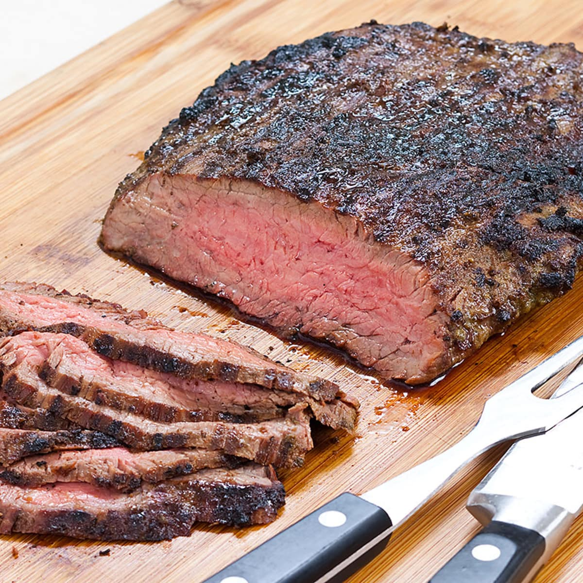Grilled Flank Steak With Garlic Shallot Rosemary Marinade Cook S