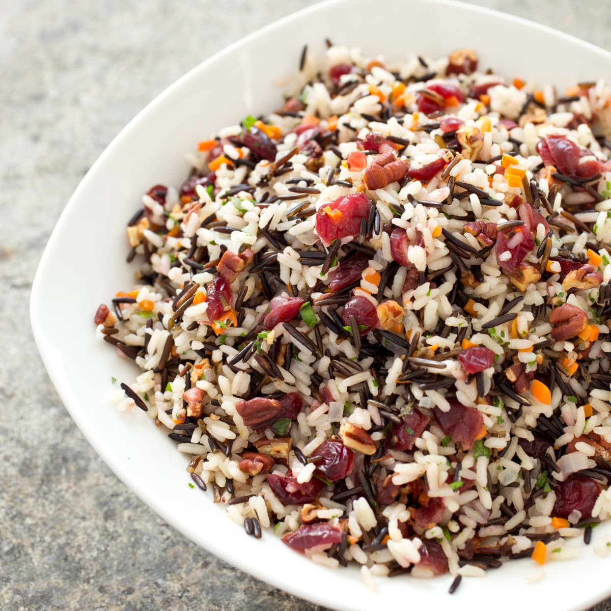 Wild Rice Pilaf with Dried Cranberries