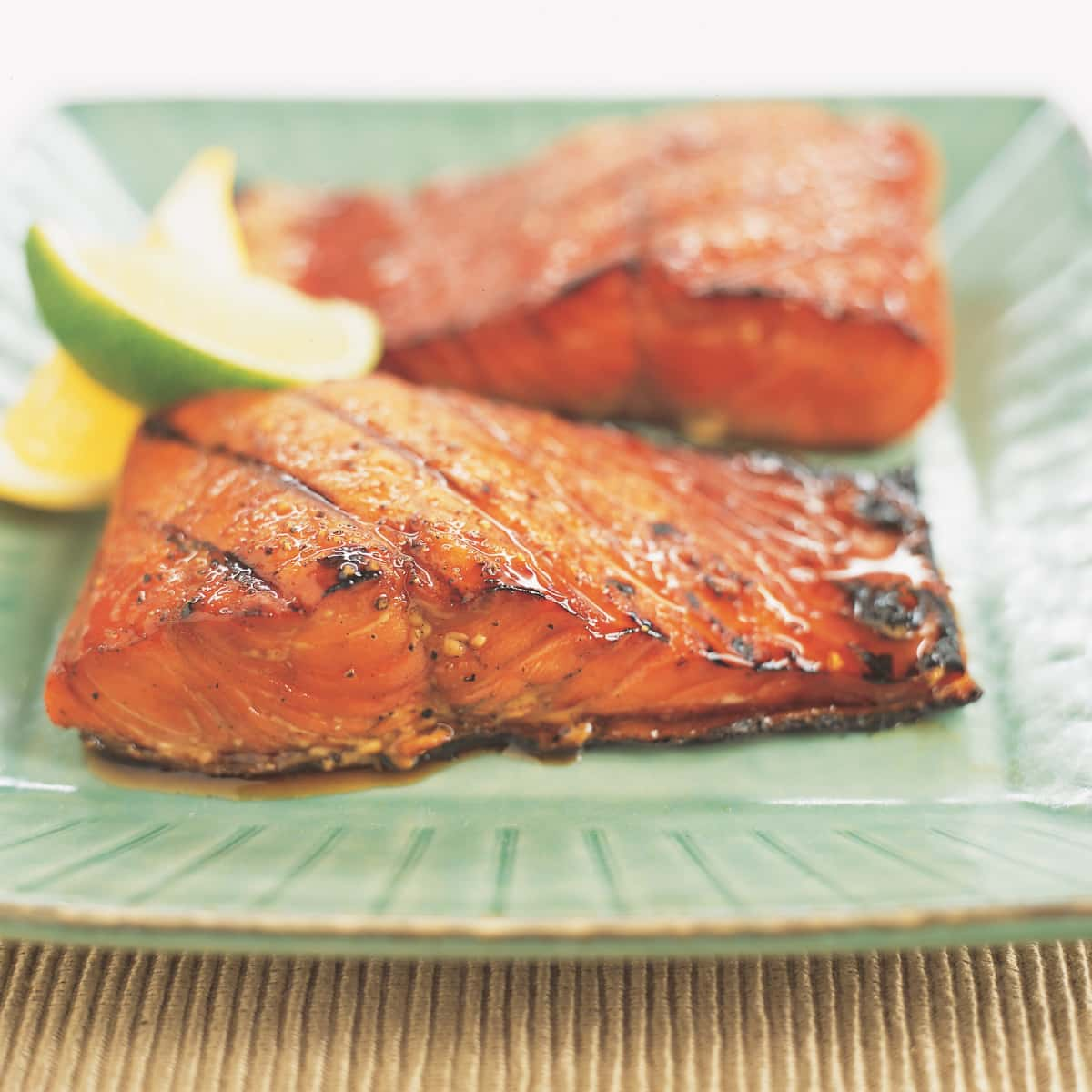 Grilled Salmon With Maple Soy Glaze Cook S Illustrated
