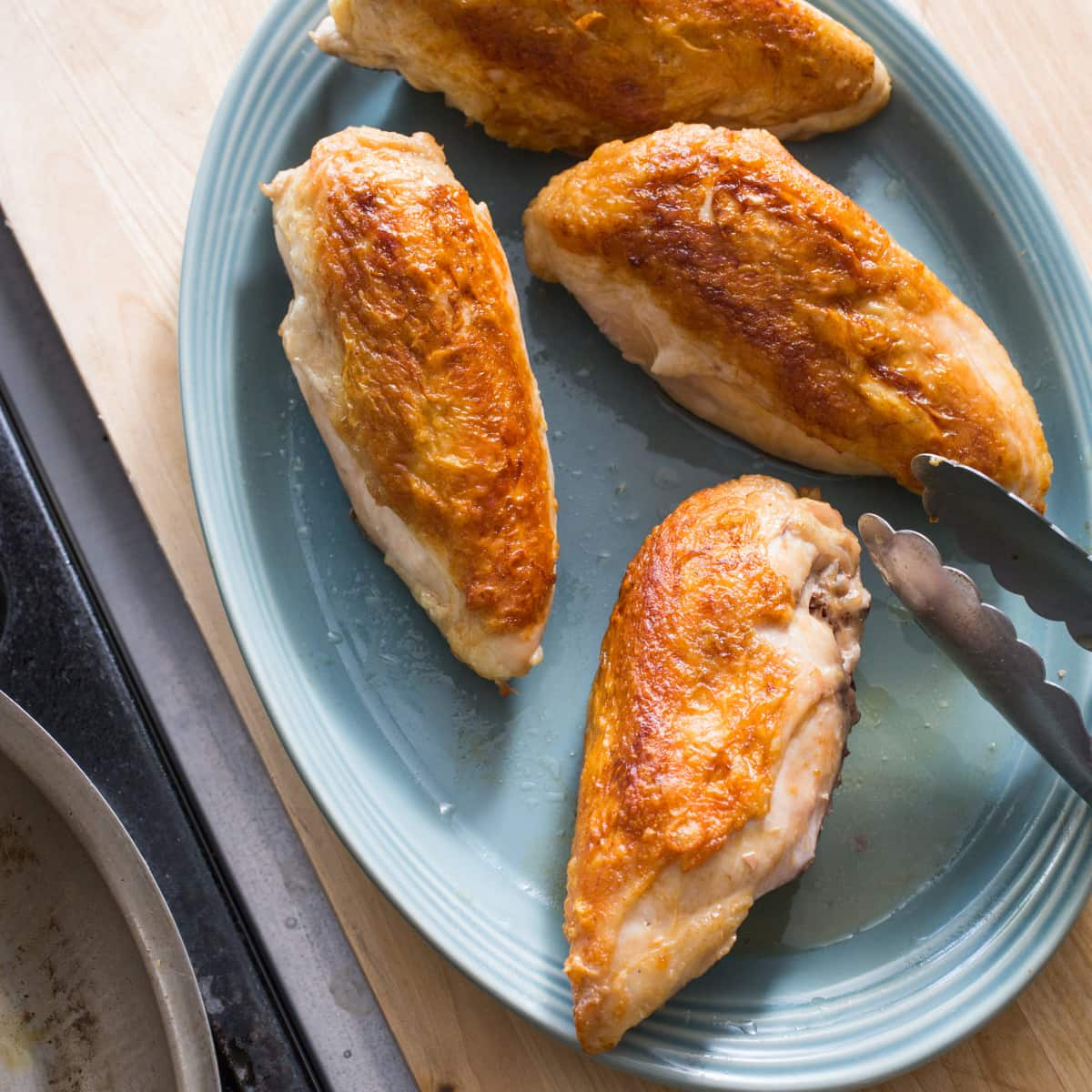 How long to bake split chicken breast at 425