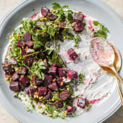 Beet Salad with Spiced Yogurt and Watercress
