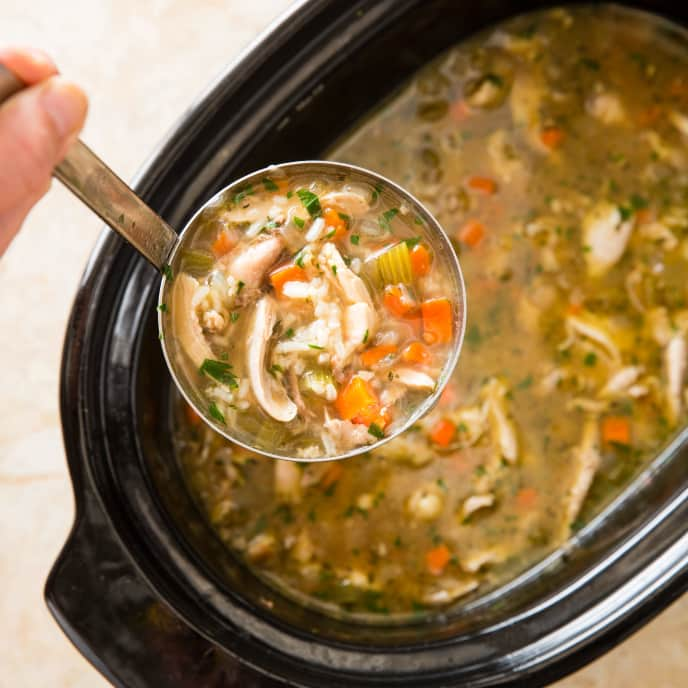 Slow-Cooker Chicken and Rice Soup