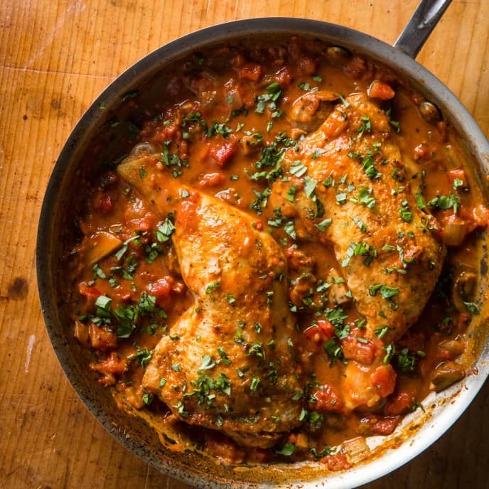 Chicken Cacciatore for Two