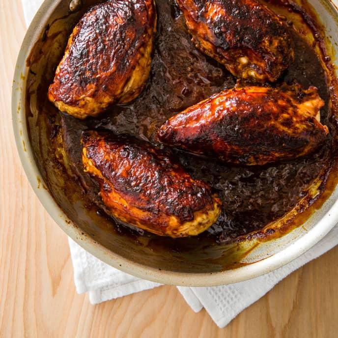Indoor Barbecued Chicken