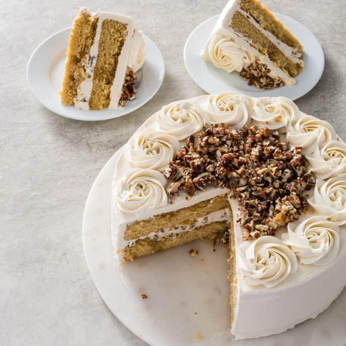 Bourbon Praline Cake