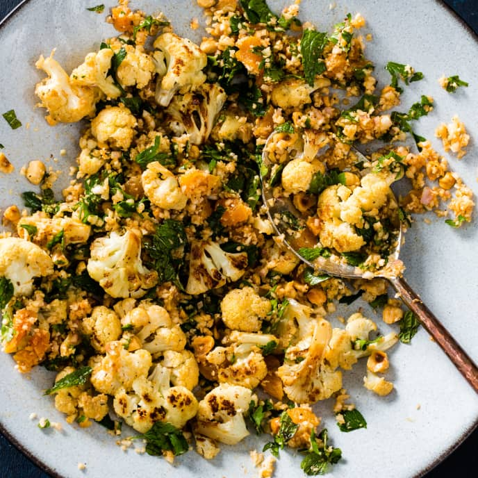 Cauliflower Salad with Apricots and Hazelnuts