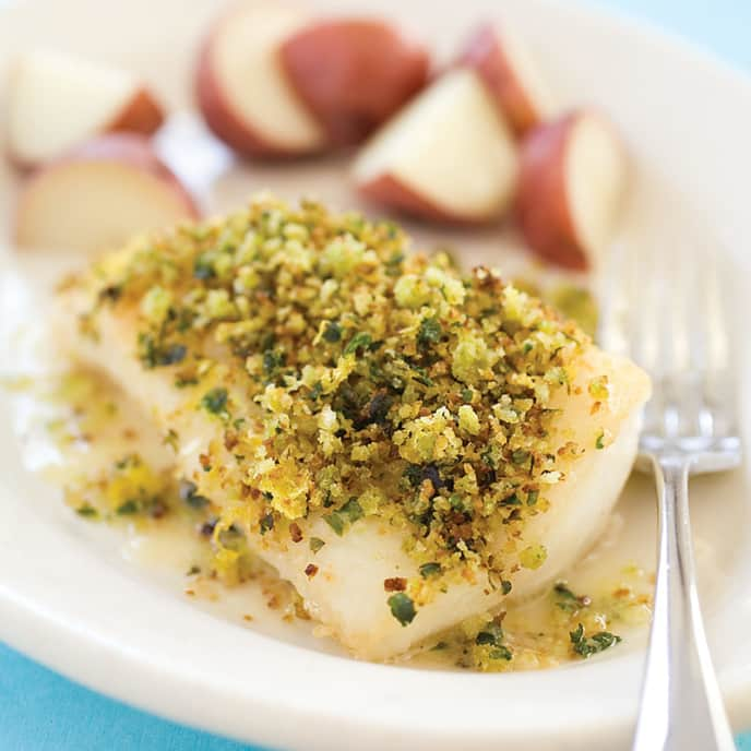 Sauteed Fish Fillets with Fresh Italian Bread Crumbs