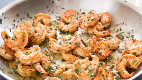pan seared shrimp with garlic lemon butter