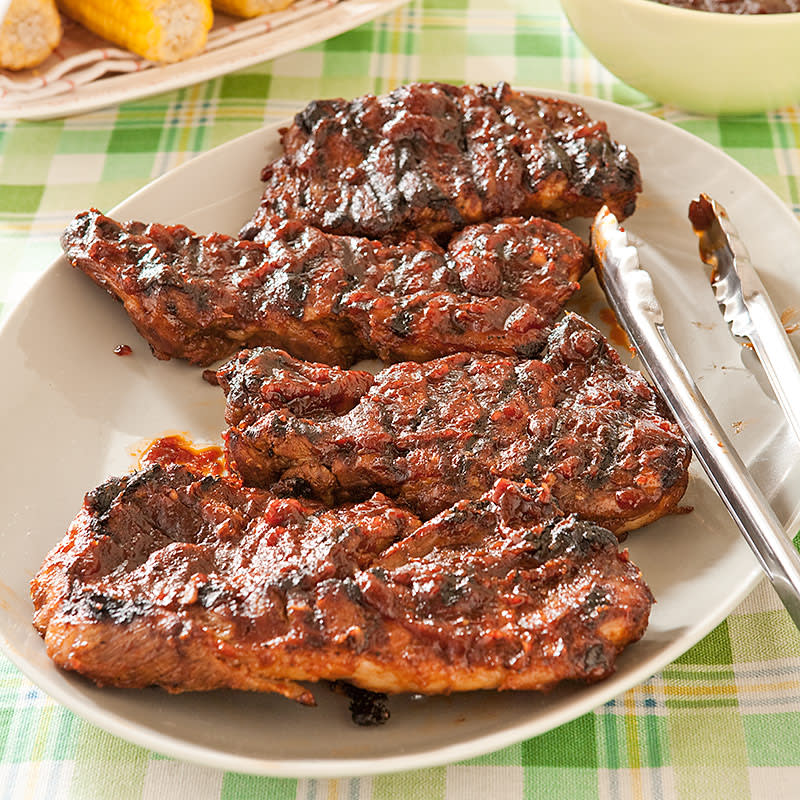 St Louis Bbq Pork Steaks Cook S Country