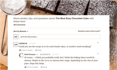 recipe comments section screenshot