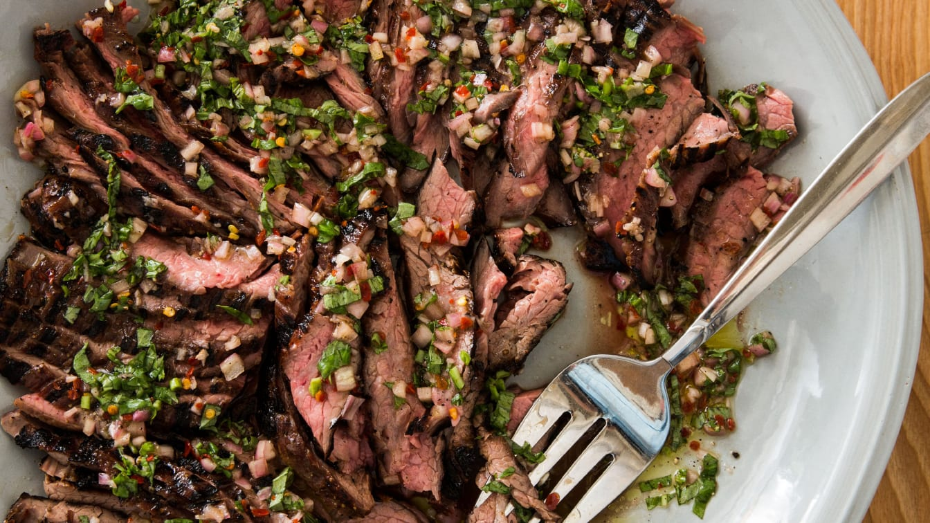 41143 sfs grilled flank steak with basil dressing 5