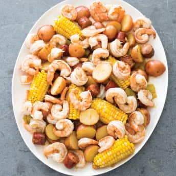 Slow Cooker Shrimp Boil With Corn And Potatoes America S
