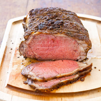 Beef loin sirloin strip roast
