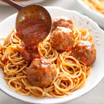 Classic Spaghetti and Meatballs for a Crowd